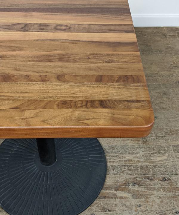 24 x 24 Solid Walnut Tables
