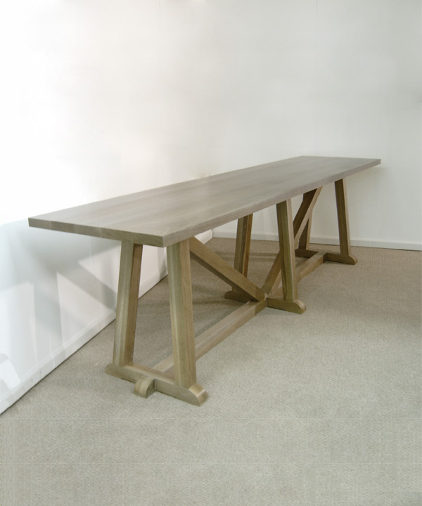 Pickled Oak Communal Table