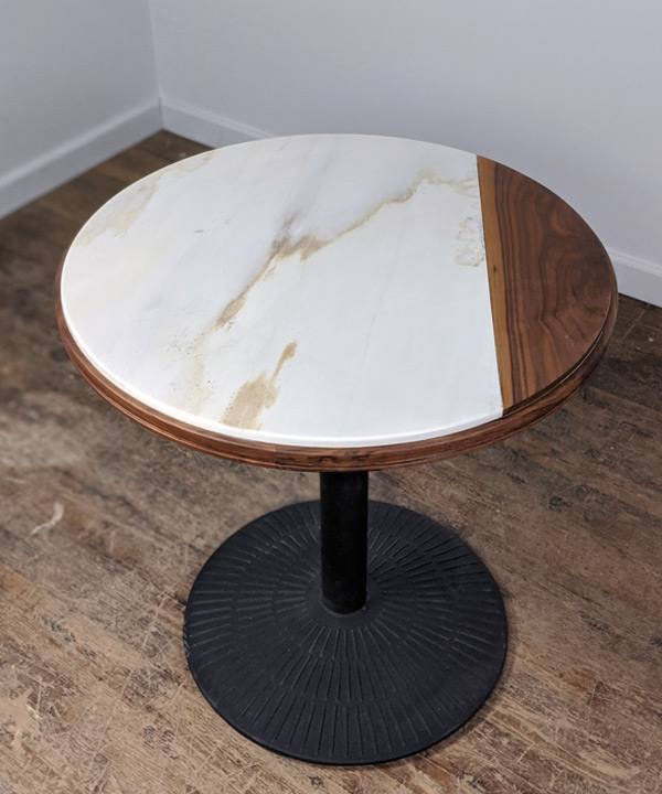 Marble Walnut Split Table Top